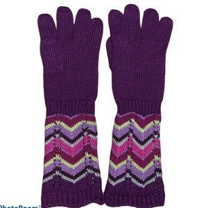 $5/purchase Missoni Purple Sparkly Knit Gloves